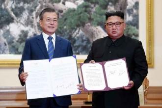 Pyongyang'daki tarihi Kore zirvesinde nükleer silahsızlanma anlaşması