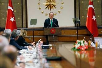 Cumhurbaşkanı Erdoğan, ABD'li şirketleri Saray'da ağırladı