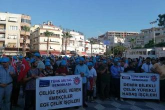İzmir'de metal işçilerinin eylemi : Yanarak ölmek istemiyoruz!
