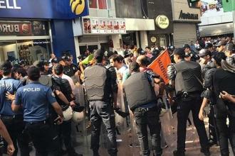 Kocaeli'de İsmail Devrim için yapılan eyleme saldırı: 15 gözlatı