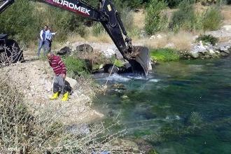 Su deposunda akıntıya kapılan işçi kayboldu
