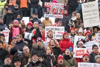 Finlandiya'da grevleri sınırlama tehdidi