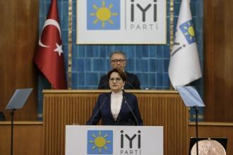 Meral Akşener, partisinin grup toplantısında konuşuyor