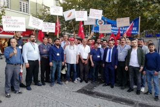 Fırın işçileri sokağa çıktı, çalışma koşullarını protesto etti