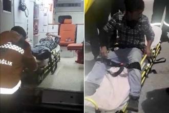 Amasra'da kule vincinde eylem yapan işçi hastaneye kaldırıldı