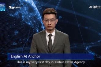 Dünyanın ilk İngilizce konuşan yapay zeka haber sunucusu