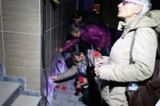 Kadınlar eşi tarafından öldürülen Zahide Oğuz için buluştu