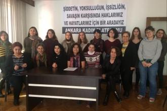 Ankara ve Bursa'da kadınlar 25 Kasım'a çağrı yaptı