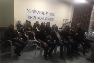 Ankara'da Yenimahalle halkı 'ekonomik kriz'i tartıştı