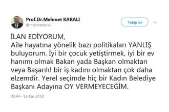 Ankara Barosu'ndan Prof. Karalı'ya suç duyurusu