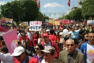 Tunus'ta 'kırmızı yelekliler' hareketi çağrısı