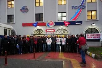 İZBAN işçileri greve başladı