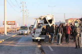 Ergene ve Aksaray'da işçi servisleri çarpıştı, 42 kişi yaralandı