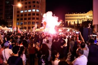 Lübnan'daki eylemlerde bir kişi kendini ateşe verdi