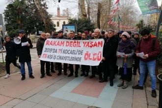 Kocaeli İSİG: 2019'da 71'i Kocaeli'de, en az 1736 işçi yaşamını yitirdi