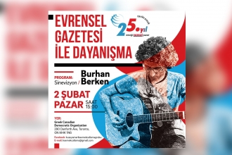 Solidarity concert with Evrensel newspaper in Toronto, Canada