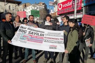Elazığ ve İstanbul'da Evrensel'e destek: Evrensel'in suç ortağıyız
