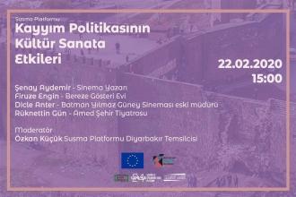 """Diyarbakır'da, """"Kayyım Politikasının Kültür Sanata Etkileri"""" paneli"""
