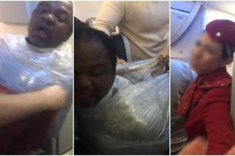THY uçağında bir yolcunun streç filme sarıldığı iddiası araştırılacak
