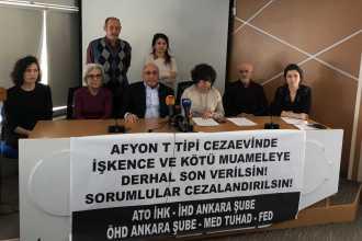 İHD, ÖHD ve TUHAD-FED'den çağrı: Afyon T Tipi Cezaevinde işkenceye son verilsin