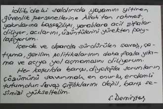 Demirtaş'tan İdlib mesajı: Savaş çığlıklarını değil, barış sesimizi yükseltelim