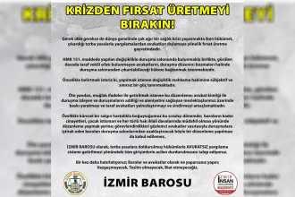 İzmir Barosu HMK'de yapılmak istenen değişikliğe tepki gösterdi