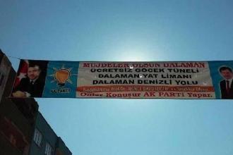AKP'nin Erdoğan'lı pankartına tepki