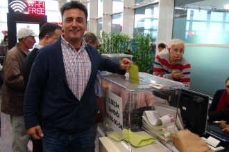 Atatürk Havalimanı'nda 1 Kasım için ilk oy atıldı