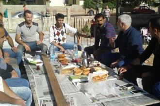 HDP Antalya Milletvekili Saruhan Oluç'tan işçilere ziyaret