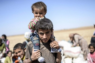 Urfa'da bir mülteci