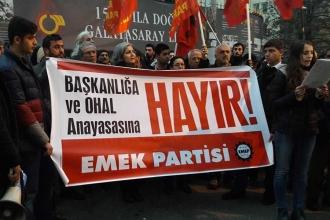 EMEP başkanlık dayatmasını protesto etti