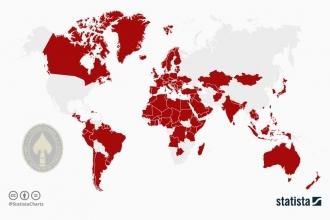 ABD özel kuvvetlerinin bulunduğu ülkelerin haritası