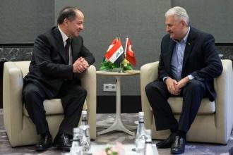 Başbakan Yıldırım ile Barzani, Münih'te görüştü