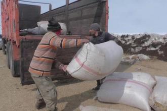 Stoklanan samanın tonu 250 lira