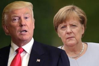 Merkel ve Alman patronlardan Trump'ı ikna ziyareti