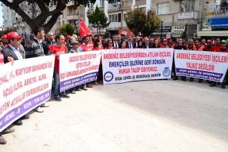 Kayyım tarafından işten atılan işçiler eylem yaptı