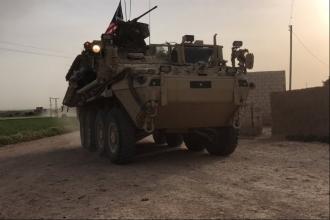 ABD ordusu, Türkiye sınırına zırhlı araç konuşlandırdı