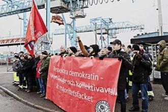 Göteborg'da 160 liman işçisi işten atılıyor