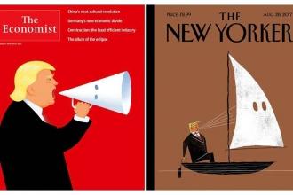 Trump'ın ırkçılara desteği dergi kapaklarında