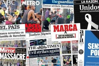 Barselona saldırısı gazetelerin manşetlerinde