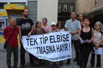 'Tek tip elbise' dayatması protesto edildi