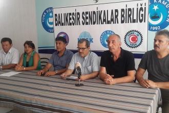 Balıkesir Sendikalar Birliğinden ortak mücadele çağrısı
