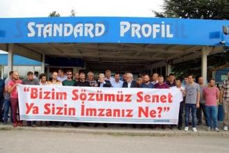 Standart Profil'de kıyım protestosu