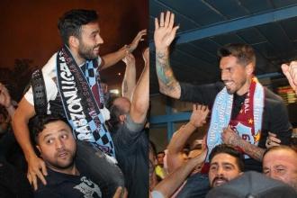 Trabzonspor'un transferleri Sosa ile Volkan Trabzon'a geldi