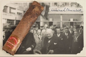 Winston Churchill'in purosunun izmariti 43 bin TL'ye satıldı