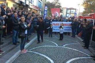 Mahallelerden cam işçilerine destek yürüyüşü