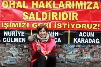 Gözaltına alınan Nuriye Gülmen ve Mehmet Dersulu serbest bırakıldı