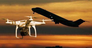 Pilot, piste 600 metre kala 'Drone' gördü