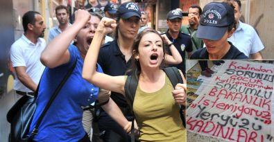 Kadınlar, Aile ve Sosyal Politikalar İl Müdürlüğü'nü işgal etti