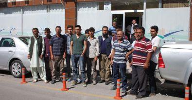 Bakanlık projesinde çalışan taşeron işçiler eylem yaptı